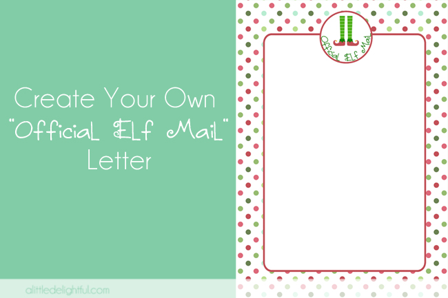 create your own elf letter - pic monkey tutorial - a little delightful